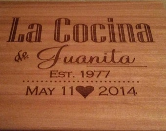 Spanish Cocina cutting board