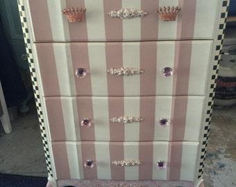 SOLD...Dresser/Princess Dresser/Painted Furniture