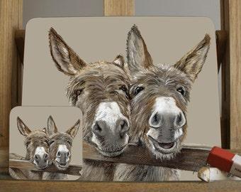 A Donkey Placemat/Coaster By Irish Artist Grace Scott