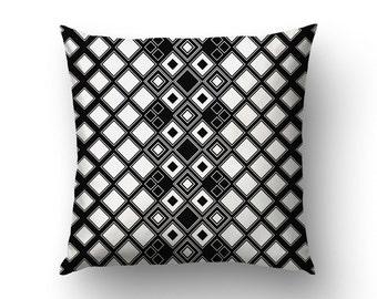 Nordic Pillow Cover, Geometric Design, Graphic Pillow, Minimalist Decor