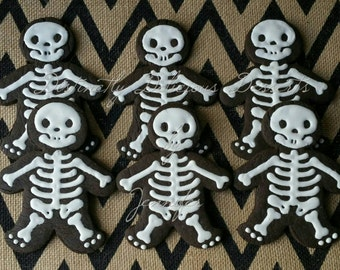 Chocolate Sugar Cookie Skeletons.