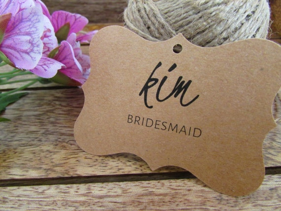 Wedding Name Tags Bridal Party Gift Tags Bridesmaids Gift Tags ...