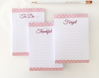 Pack of three notepads - Dots - Stationery notepad - Paperpad