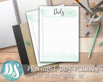 """Hourly Printable Planner """"HOURLY DAY PLAN"""" Daily schedule 