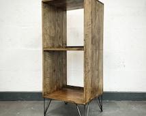 Reclaimed Pallet Wood Vinyl Storage Unit - Pallet Wood Vinyl Storage - Reclaimed Wood Vinyl Storage - Rustic Vinyl Storage Unit