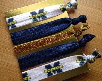 Michigan inspired collegiate set of 5 ties