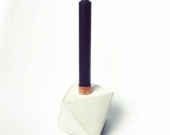 """Concrete/Copper Candleholder """"CENTURY""""  10x10 cm (3.94x3.94"""")"""