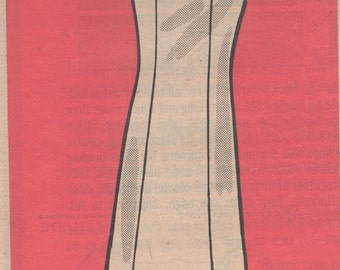 Mail Order Marian Martin 9484  Sleeveless  Dress  Sewing Pattern uncut size 16 1/2