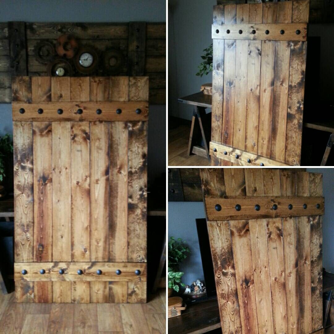 Rustic barn door shutter extra large slider