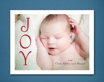 DIGITAL Christmas Card  • Cascading Joy Christmas • Christmas Card • Christmas • Holiday Cards • 4x6 Christmas Card • Joy Christmas Card