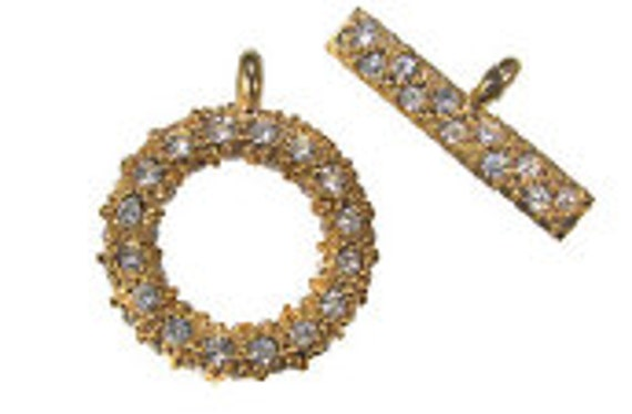 Gold Pave Toggle & Bar (1pc)