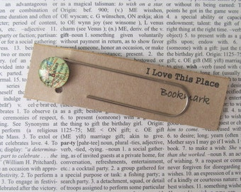 Dallas, Texas map bookmark: page marker made with an original US map. Gift idea for best friend, boyfriend, housewarming, book lover.