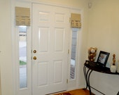 Sidelight Window Covering (Tan fabric pictured)  Price is per panel