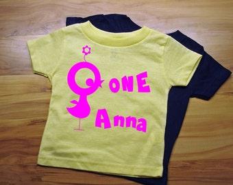 Girls First Birthday T Shirt Personalized