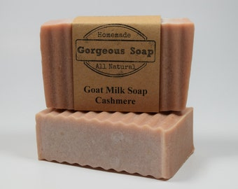 Cashmere Goat Milk Soap - All Natural Soap, Handmade Soap, Homemade Soap, Handcrafted Soap