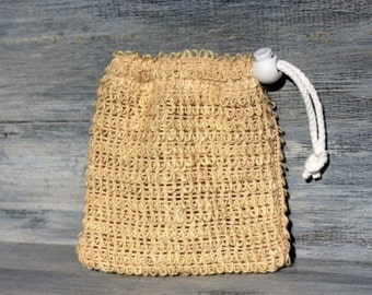 Natural Sisal Soap Pouch, Soap Saver Bag, Exfoliating Soap Sack, Made with Natural Fibers