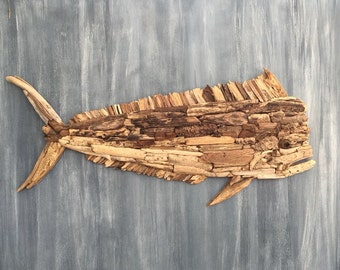 Driftwood Mahi Mahi Coastal Wall Decor