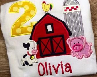 Farm yard birthday shirt