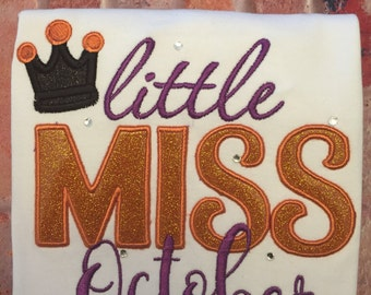 Little Miss October Shirt