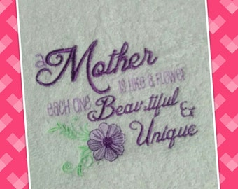 beautiful embroidered hand towel perfect gift for mother