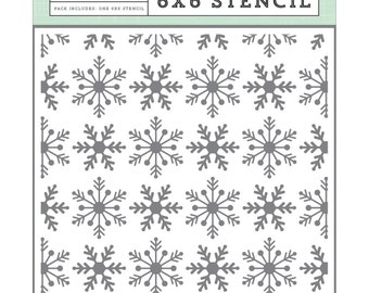 """Shop """"snowflake stencil"""" in Drawing, Painting & Writing Supplies"""