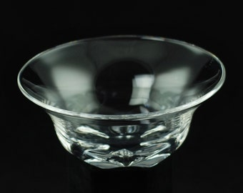 Vintage Orrefors Clear Lead Crystal Flared Bowl with Scalloped Starburst Foot - Pattern 1598
