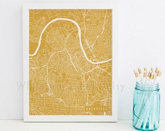 Nashville Map Art Nashville Print Nashville Art Print Nashville Poster Nashville Printable Nashville City Art Nashville Tennessee Art