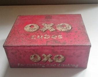 Large Vintage Oxo Tin
