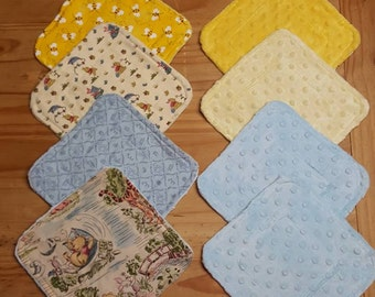 Pooh Baby wash cloths, wash rags, bath time, childrens wash cloths, baby shower gift, nursery decor, baby girls, baby boys, cleaning rags
