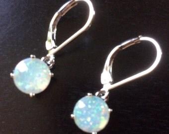 SALE !  Fire Opal Earrings