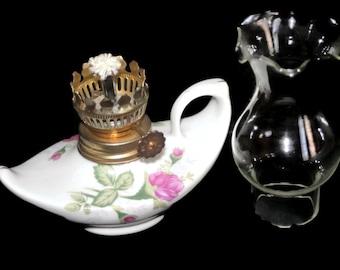 Vintage Porcelain Aladdin Oil Lamp
