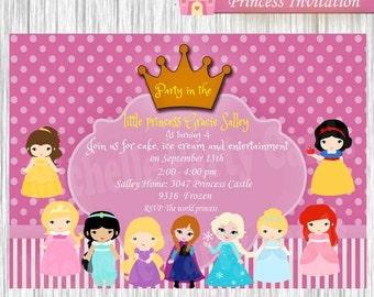 50%off Invitation Princess and Frozen Princess