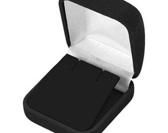 1 Black Velvet Earring Jewelry Display Gift Box