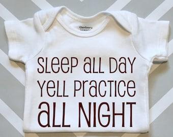Yell Practice Baby Onesie - Aggie Baby Shower Gift - Gender Neutral Texas A&M Onesie