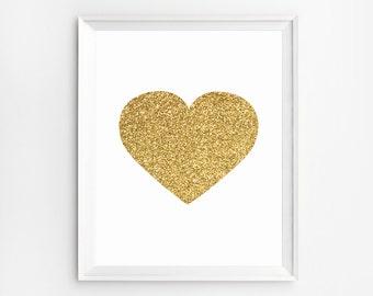 Nursery Art Print, Wall Art, Heart, Nursery Wall Art, Nursery Decor, Nursery Prints, Wall Art Prints, Heart Print, Prints, Nursery, Poster