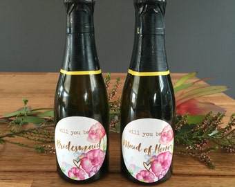 Will you be my Bridesmaid | wine label | mini label | candle label | bridesmaid gift