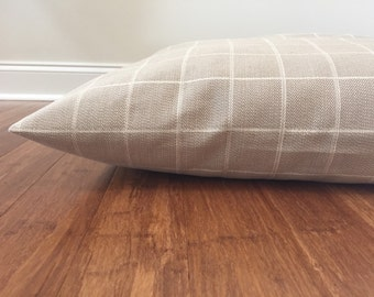 Dog Bed Cover, Durable Upholsetery Cover, Designer Bed Cover, Dog Bed Duvet Cover, XL Dog Bed Cover, Big Bed Cover, Beige Dog Bed Cover