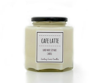 Coffee Scented Candle, Coffee Candle, Cafe Latte Candle, Strong Scented Candle, Candle, Coffee Scent, Cafe Latte Scent, Large Candle