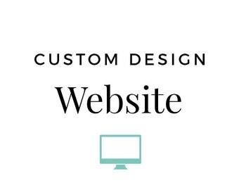 Custom WEBSITE Design - Responsive website - Business Web Design - Built on Wordpress - E-Commerce