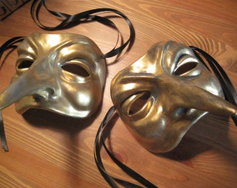 Ceramic hand finished Italian Venetian Carnival Masks
