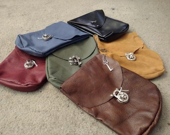 Leather LARP Pouch-LARGE SIZED
