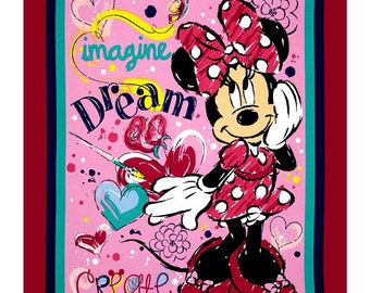 New Minnie Bowtique Imagine Dream Create Panel-Free Shipping