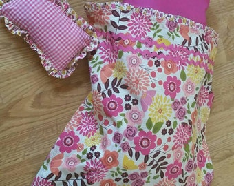 18 inch Doll Cradle Bedding - Floral and Ginghams