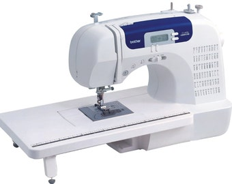 Brother CS6000i Feature-Rich Sewing Machine With 60 Built-In Stitches, 7 styles of 1-Step Auto-Size Buttonholes, Quilting Table, Hard Cover