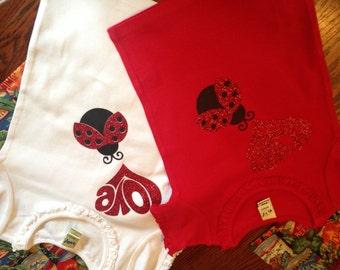 Love Bug Ruffled T-shirt