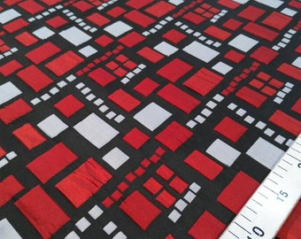 Black,red and gray jacquard fabric #27 G