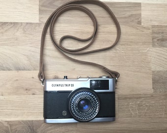 Leather Camera Strap | Hand Made Leather Camera Strap | DSLR Leather Camera Strap | Thin Leather Camera Strap | Camera Neck Strap | Vintage