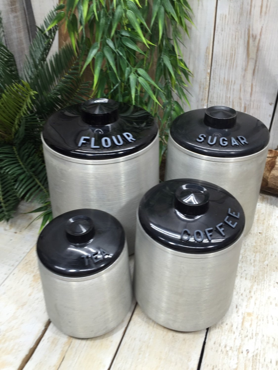vintage kitchen canister sets kromex kitchen canister set retro canisters vintage 4568