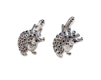 Hedgehog Silver Toned Cuff Links