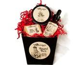 Beard Grooming Gift Box, Valentine Gift,  Beard Gift Set, Beard Kit, Beard Set, Beard Grooming Set, Gift For Him, Beard Grooming Kit